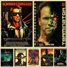 American Science Fiction Movie The Terminator Poster Arnold Schwarzenegger Posters Room Decorative Painting Wall Stickers Wish