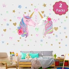 Song S Idea Large Size Unicorn Wall Decal 2packs Unicorn Wall Sticker Decor Wi