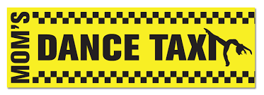 Mom S Dance Taxi 11 1 2 X 3 3 4 Bumper Sticker Made In Usa Ballet Gift Shop