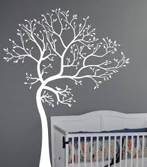 White Tree Decal Tree Canopy Portal Wall Sticker Two Symmetrical Independence