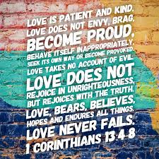 Love Is Patient Love Is Kind Love Never Fails 1 Corinthians 13 4 7 8 Wall