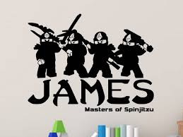 Lego Ninjago Personalized Vinyl Wall Decal Decals By Droids