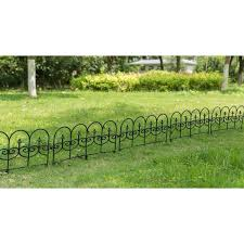 Shop Vinyl Wrought Iron Look Garden Ornamental Edging Lawn Picket Fence Overstock 31690903