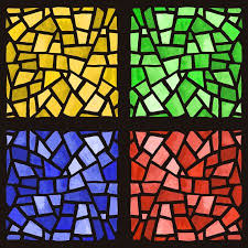 ᐈ stain glass pattern stock