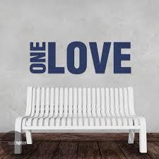 One Love 1 Love Vinyl Wall Decal Sticker Art Home Decor Etsy