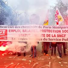 """Αποτέλεσμα εικόνας για cheminots grévistes de la gare de Vaugirard."""""""