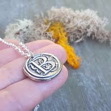 wax seal necklace personalized jewelry