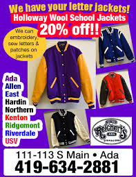 Area school letter jackets now at Reichert's | The Ada Icon