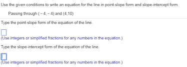 given conditions to write an equation
