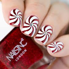 nail art candy swirl