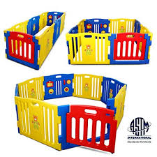Wooden Baby Playpen Room 6 8 Panel Play Yard Fence For Kid Children Heavy Duty Q