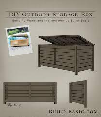 build a diy outdoor storage box