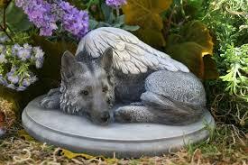 german shepherd angel dog statue