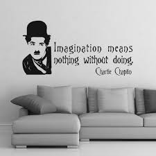 Charlie Chaplin Quote Vinyl Stickers Cutzz