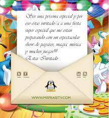 Frases Para Invitacion De Cumpleanos Infantiles Imagui