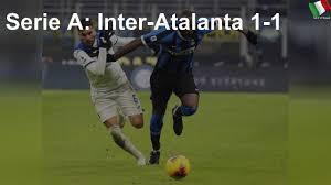 Serie A: Inter-Atalanta 1-1 - YouTube