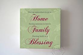 Home Family Blessing Quote Canvas Wall Art Housewarming Gift Unique Muralmax Interiors