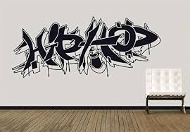 Amazon Com Wall Decal Vinyl Sticker Decals Art Decor Guys Boy Sign Hip Hop Graffiti Music Rap Street Style Living Room Bedroom Dorm Man Gift R1276 Home Kitchen