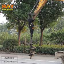 China Mini Excavator Equipment Post Hole Digger Fence Post Auger For Sale China Earth Auger Earth Drill
