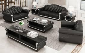 italian leather black with white sofa