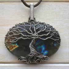 labradorite necklace wire wrapped tree