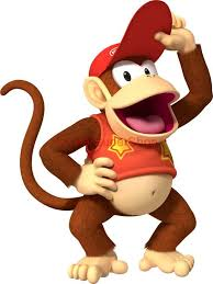 Choose Size Diddy Donkey Kong Mario Decal Removable Wall Sticker Video Game Donkey Kong Diddy Kong Mario