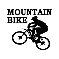 Mountain Bike Vinyl Decal Sticker