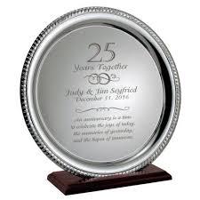 silver 25th anniversary personalized