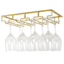 wine glasses rack under cabinet