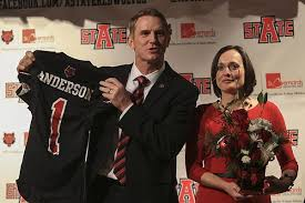 Arkansas State's Blake Anderson by ailing wife's side
