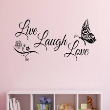 Live Laugh Love Butterfly Flower Wall Art Sticker Modern Wall Decals Quotes Vinyl Wall Stickers Home Decor Living Room Cheap Wall Clings Cheap Wall Decal From Joystickers 10 76 Dhgate Com
