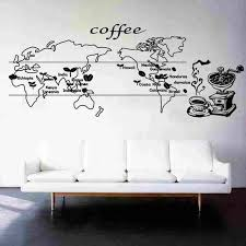 New Arrival Coffee World Map Sticker Food Decal Cafe Poster Vinyl Art Wall Decals Home Decor Mural Coffee Sticker Map Sticker World Map Stickercoffee Stickers Aliexpress