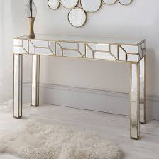 dresden mirrored console table