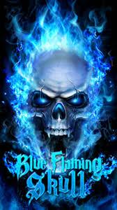 blue fire skull live wallpaper apk for
