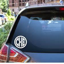 Monogram Car Decal Monogram Car Sticker Monogram Truck Etsy