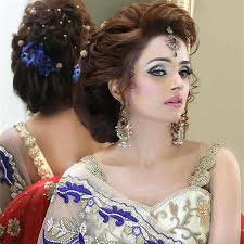 indian party makeup and hairstyle