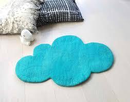 Cloud Rug Aqua Blue Felt Rug Nursery Rug Felted Rug Kids Etsy