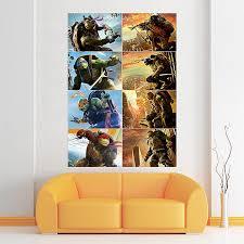 Teenage Mutant Ninja Turtles Characters Block Giant Wall Art Poster
