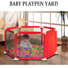 Indoor Baby Playpens Outdoor Games Fencing Children Play Fence Kids Activity Gear Environmental Protection Safety Play Yard Color May Vary Lazada Ph