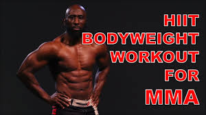 hiit bodyweight workout for mma you