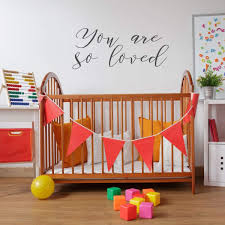 You Are Loved Quote Lettering Nursery Vinyl Decor Wall Decal Customvinyldecor Com