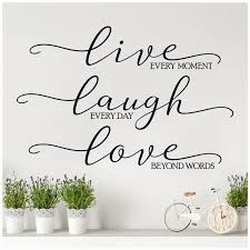 Live Every Moment Laugh Everyday Love Beyond Words Large Etsy
