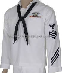 u s navy male enlisted white jumper