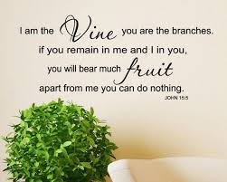 I Am The Vine You Are The Branches John 15 5 Scripture Vinyl Decal Lettering Wall Words God Quotes Frui Scripture Vinyl Scripture Vinyl Decals Quotes About God