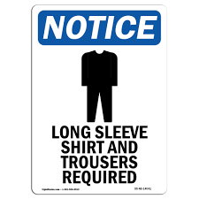 Osha Notice Sign Long Sleeve Shirt Choose From Aluminum Rigid Plastic Or Vinyl Label Decal Protect Your Business Construction Site Warehouse Shop Area Made In The Usa Walmart Com