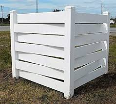 Amazon Com White Basketweave Pvc Fence Corner Privacy Driveway Garden Accent Garbage Can Ac Unit Enclosure Garden Outdoor