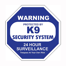 K9 Security System Car Window Decal Baxterboo