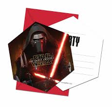 Star Wars Vii Tarjetas Invitacion Invitaciones De Cumpleanos
