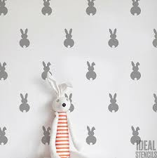 bunny rabbit pattern stencil nursery