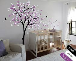 Blossom Black Tree Birds Wall Stickers Vinyl Decal Nursery Baby Kids D Walldecaldesigns
